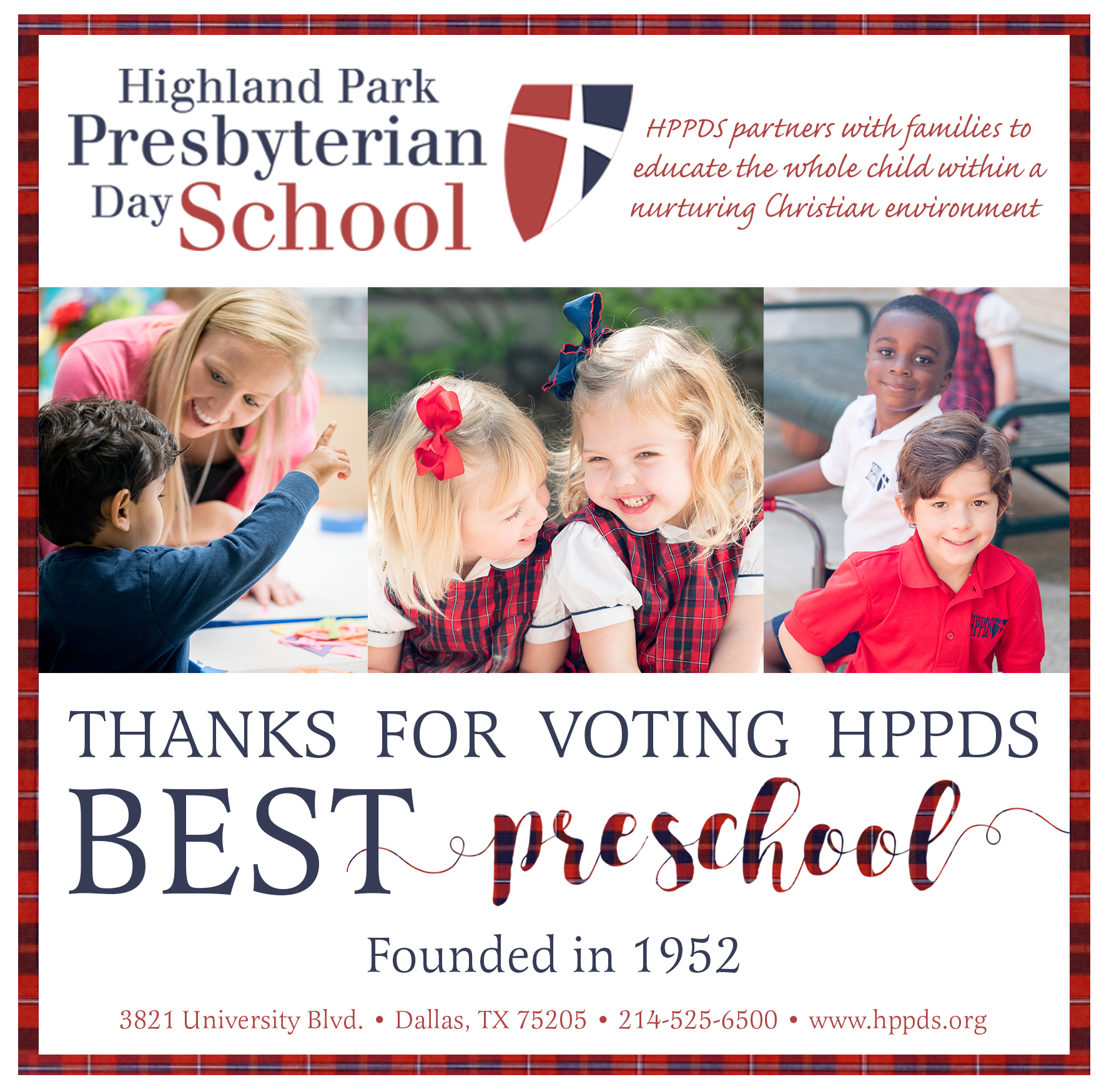 Thanks for Voting us Best Preschool!